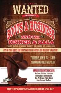 Boots & Business Annual Dinner & Gala @ Shenandoah Valley Golf Club