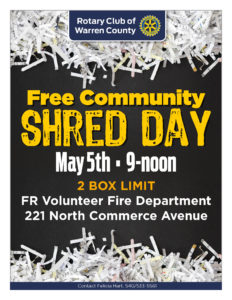 Free Community Shred Day! @ Front Royal Volunteer Fire Department