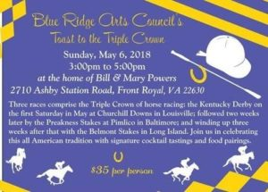 Blue Ridge Arts Council's Toast to the Triple Crown @ Home of Bill & Mary Powers