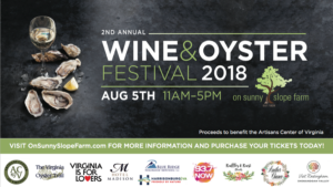 2nd Annual Wine & Oyster Festival @ On Sunny Slope Farm