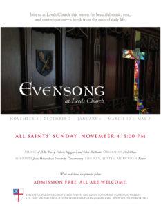 Choral Evensong at Leeds @ Leeds Church