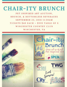 SPCA's inaugural CHAIR-ity brunch @ Winchester Country Club