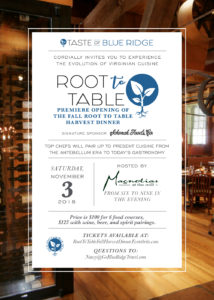 Root To Table @ Magnolias at the Mill