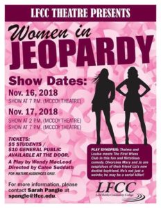 "LFCC presenting ""Women in Jeopardy"" @ Lord Fairfax Community College 