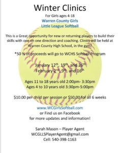 Winter Clinics for WCGLLS @ Warren County High School