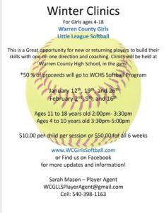 Winter Clinics for WCGLLS @ Warren County High School