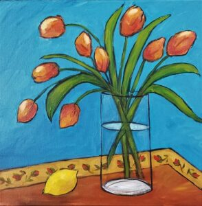 Expressive Tulips Paint Party @ The Studio For Learning
