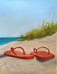 Beach and Flip Flops Paint Party @ The Studio For Learning